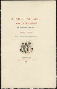 A Street of Paris and Its Inhabitant
