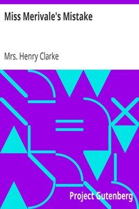 Cover of Miss Merivale's Mistake