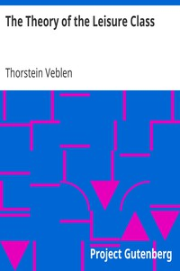 Cover of The Theory of the Leisure Class