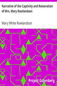 Cover of Narrative of the Captivity and Restoration of Mrs. Mary Rowlandson