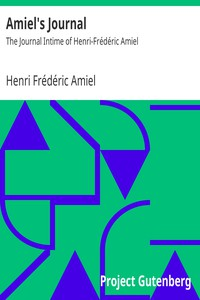Cover of Amiel's Journal: The Journal Intime of Henri-Frédéric Amiel