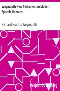 Cover of Weymouth New Testament in Modern Speech, Romans