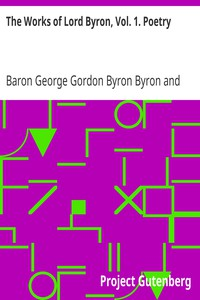 Cover of The Works of Lord Byron, Vol. 1. Poetry