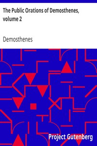 Cover of The Public Orations of Demosthenes, volume 2