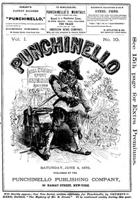 Cover of Punchinello, Volume 1, No. 10, June 4, 1870