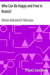 Cover of Who Can Be Happy and Free in Russia?
