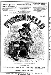 Cover of Punchinello, Volume 1, No. 13, June 25, 1870
