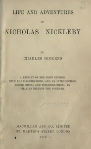 Cover of Nicholas Nickleby