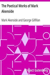 Cover of The Poetical Works of Mark Akenside
