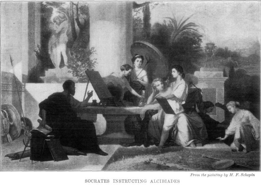 The project gutenberg ebook of beacon lights of history volume i socrates instructing alcibiades after the painting by hf schopin fandeluxe Image collections