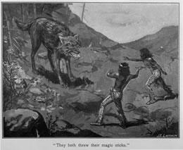 'They both threw their magic sticks.'