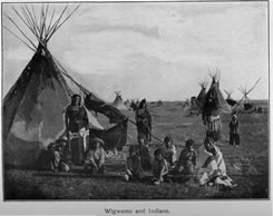 Wigwams and Indians.