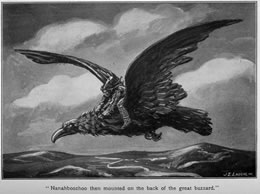 'Nanahboozhoo then mounted on the back of the great buzzard.'