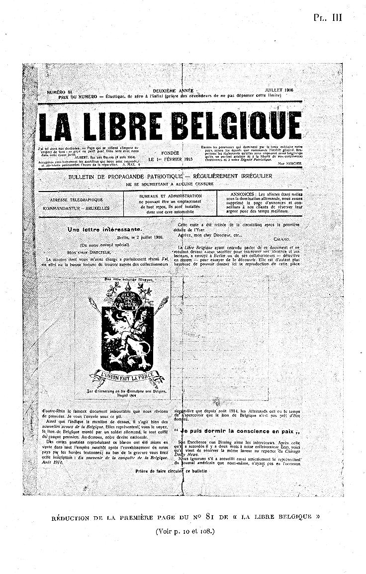 patrie journal belge clandestin