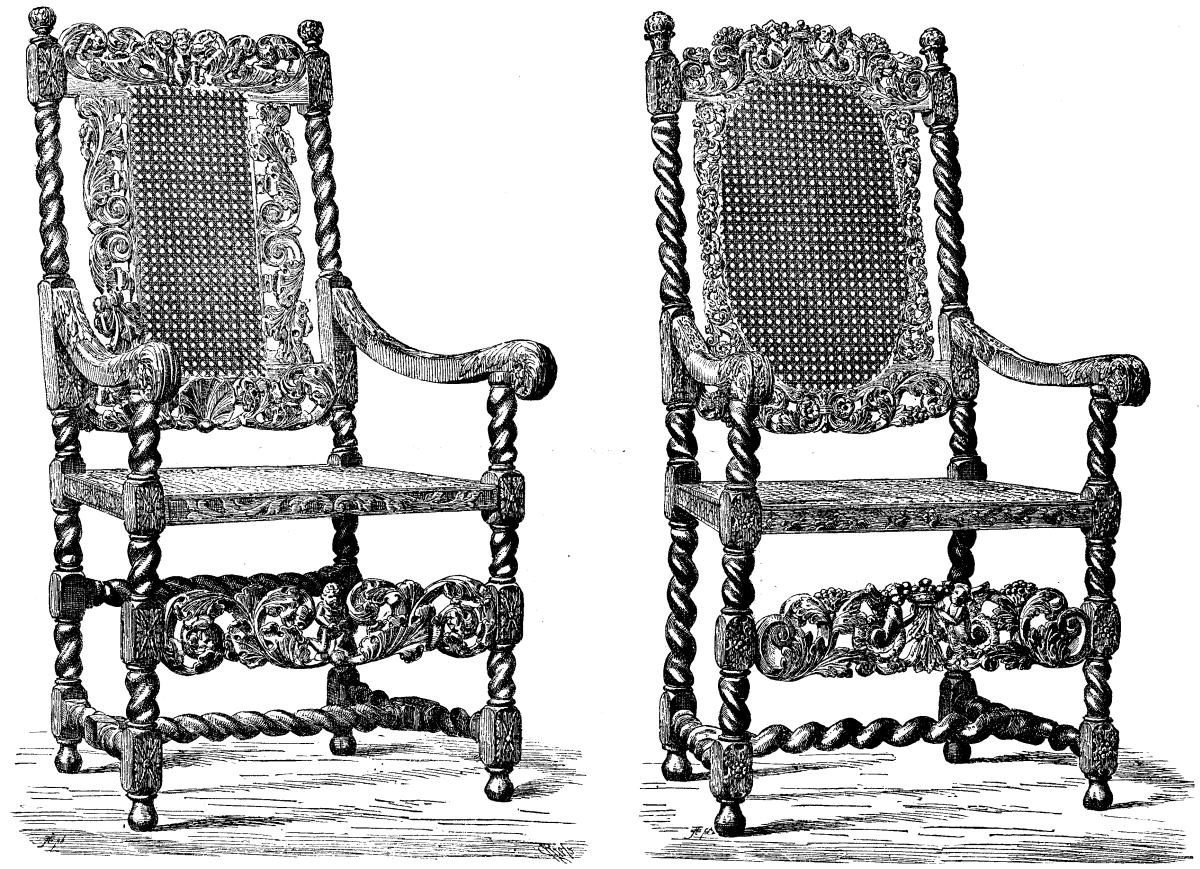 ARM CHAIR IN THE LOUVRE COLLECTION, PARIS; FLENISH RENAISSANCE.  From The
