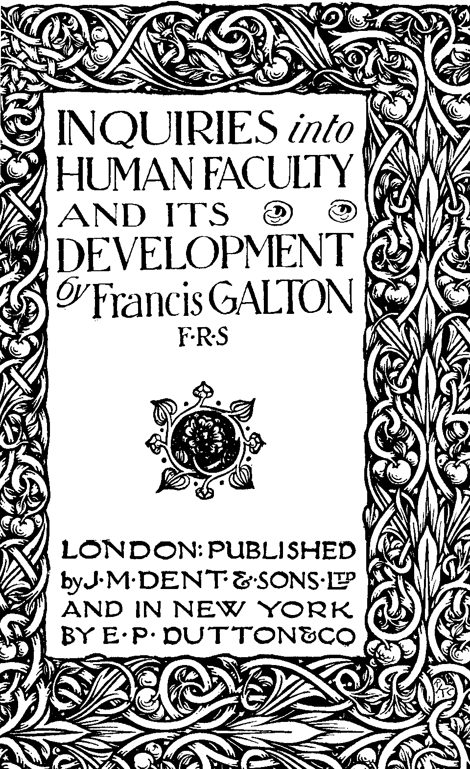 The project gutenberg ebook of inquiries into human faculty and its frontispiece fandeluxe Gallery