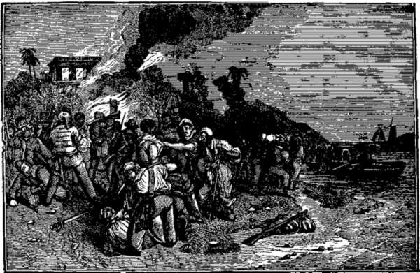 Retreat of the Pirates and Death of Captain Davis