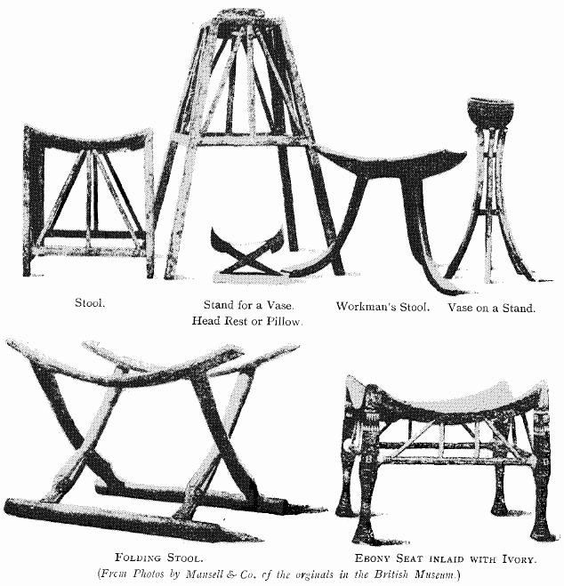 Egyptian Furniture. Illustrated History Of Furniture  by Frederick Litchfield