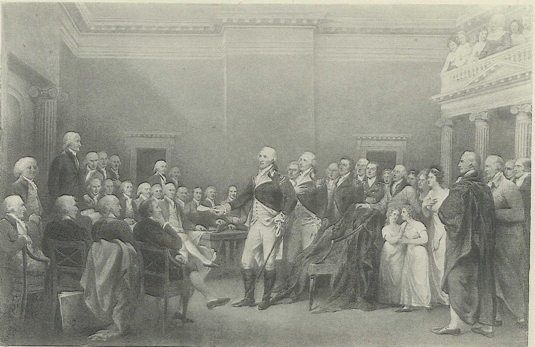 Washington Resigning Hismission At Annapolis