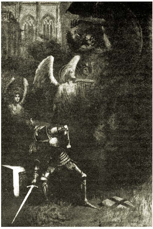 Galahad ... quickly lifted up the stone, and forthwith came out a foul smoke.