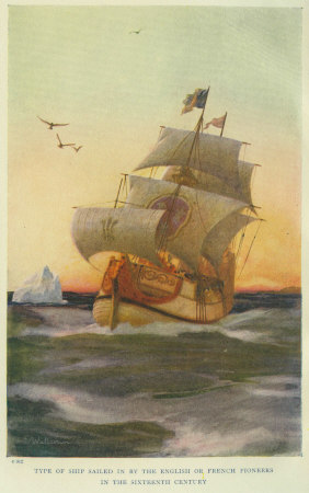 d5b05f2f14aa0 Type of Ship Sailed in by the English Or French Pioneers in the Sixteenth  Century