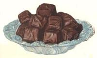 Chocolate Dipped Fruit Fudge.