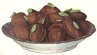 Rose and Pistachio Chocolate Creams.