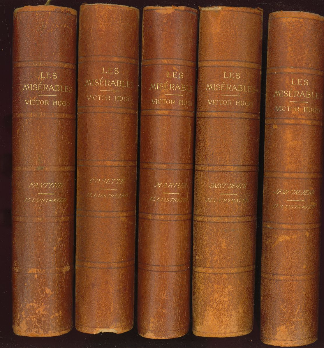 les mis atilde copy rables five volumes complete by victor hugo enlarge