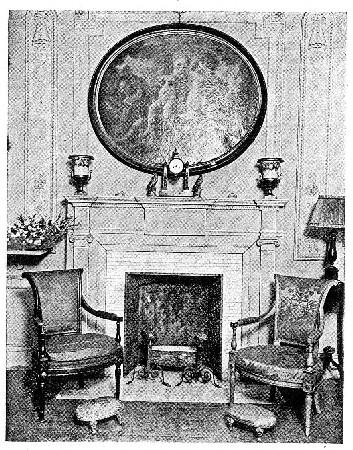 Photo of a mantel arrangement