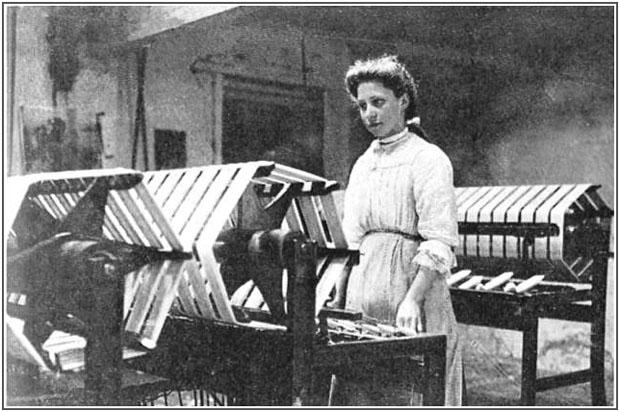Bild Arbeit in der Cotton Mill