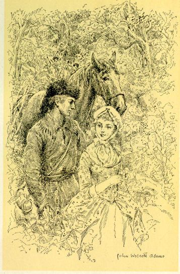 The project gutenberg ebook of in the days of poor richard by frontispiece a young john irons and margaret hare in the forest fandeluxe Choice Image