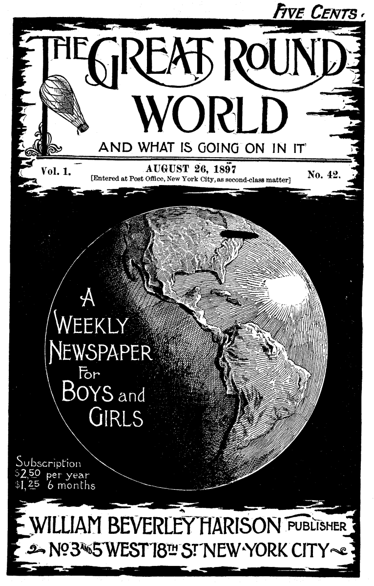 the project gutenberg ebook of the great round world and what is Magazine Covers 2017 cover illustration globe