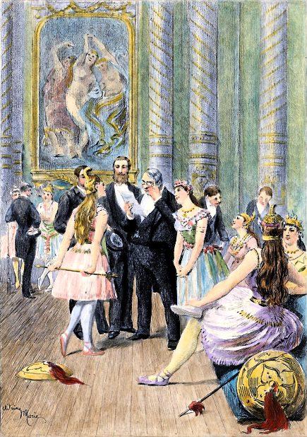 Illustration IN THE GREENROOM OF OPERA