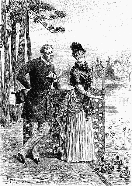 Illustration VAUDREY MEETS MARIANNE IN THE BOIS