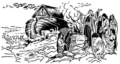 So Noah Opened The Door Of Ark
