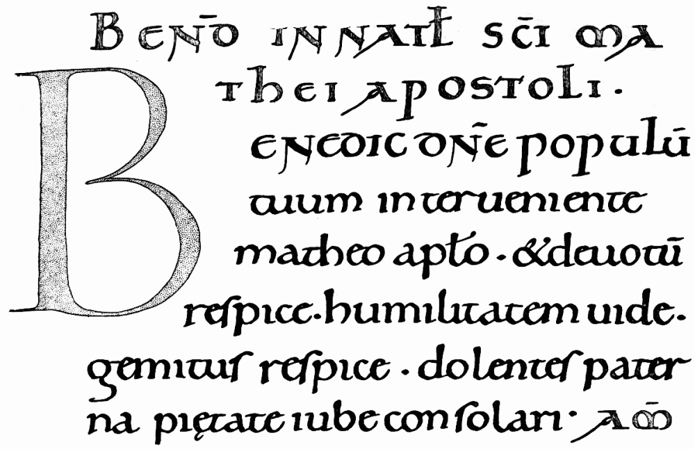 The project gutenberg ebook of old english libraries by ernest a writing in the benedictional of ethelwold fandeluxe Images