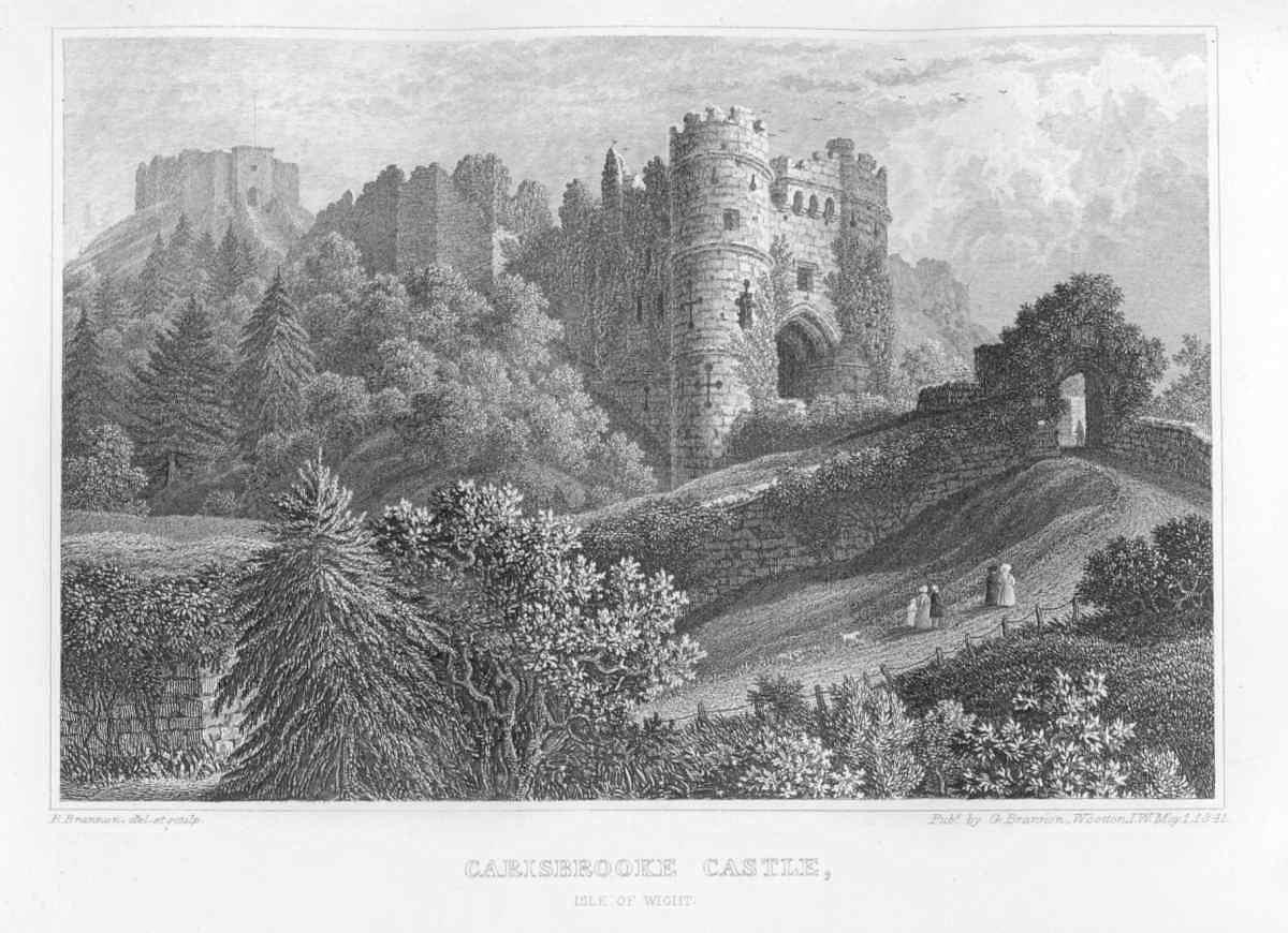 Hamlet Castle Drawing Carisbrooke Castle Isle of