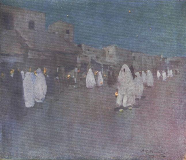 A NIGHT SCENE, MOGADOR