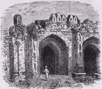 Kashmir Gate at Delhi.