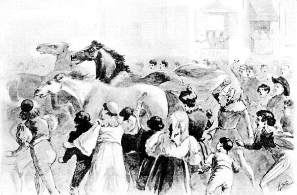 The project gutenberg ebook of corinne by mme de stal the crowd break their ranks as the horses pass fandeluxe Choice Image