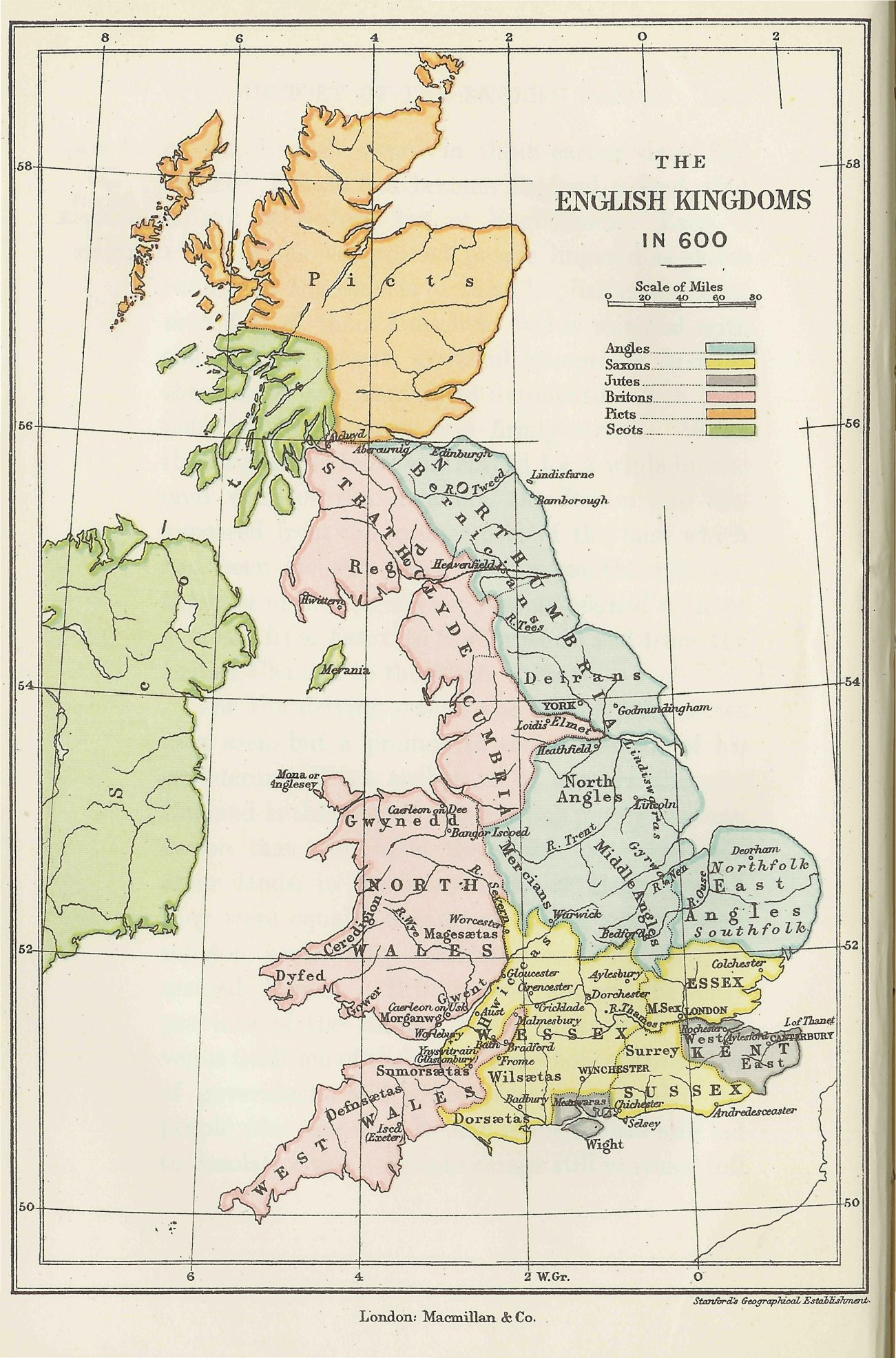 Map Of England 600 Ad.Map Of England 600