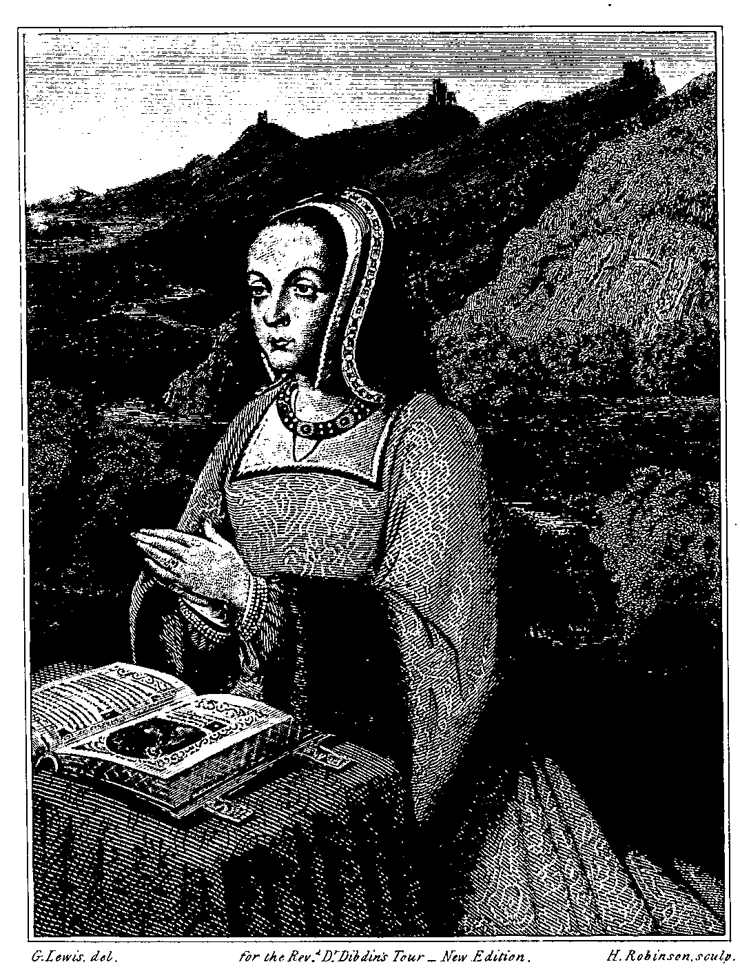 ANN OF BRITTANY From An Illustrated Missal In The Royal Library At Paris