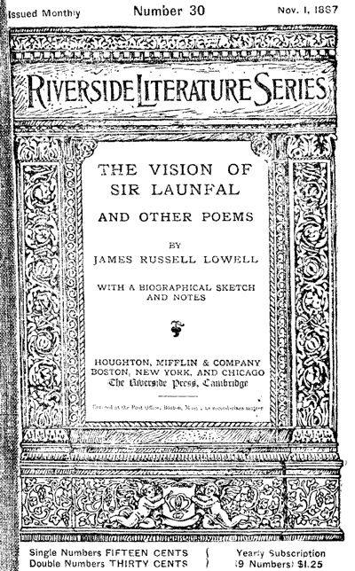 The project gutenberg ebook of the vision of sir launfal and other cover page fandeluxe Choice Image