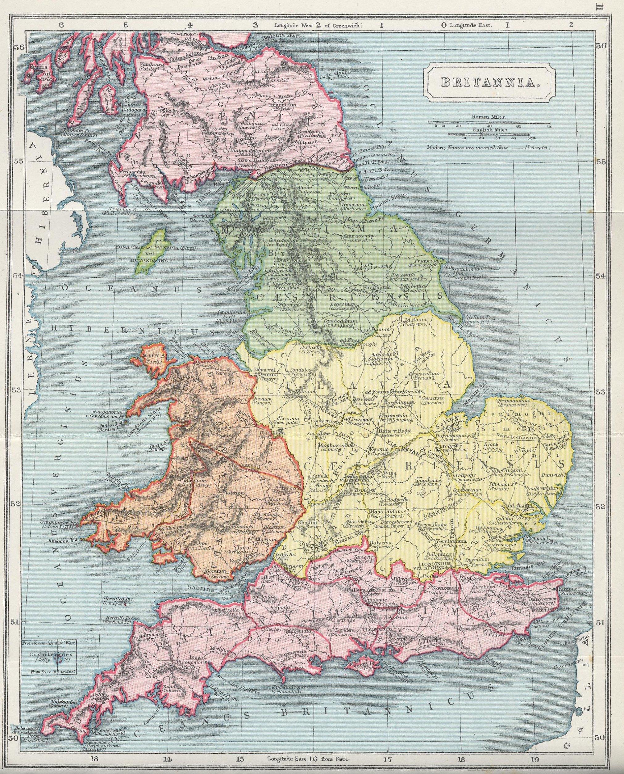 Ancient Britannia Map