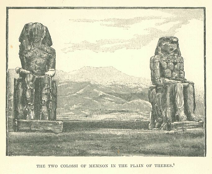 History of egypt by maspero volume 5 073g the two colossi of memnon in the plain of thebes fandeluxe Images