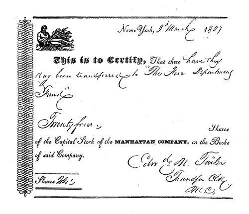 The project gutenberg ebook of bank of the manhattan company by form of early stock certificate yelopaper Image collections