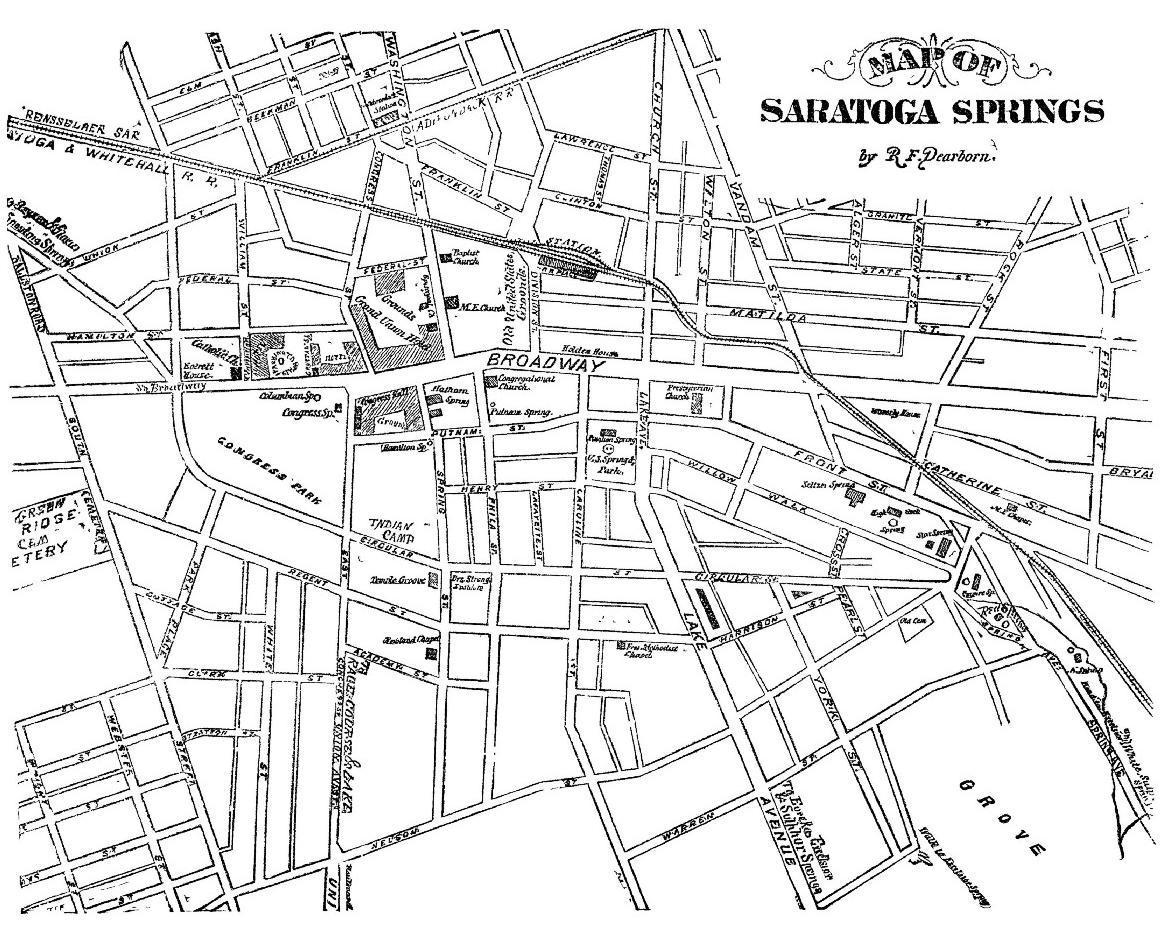 map of saratoga springs by rf dearborn. the project gutenberg ebook of saratoga and how to see it by rf