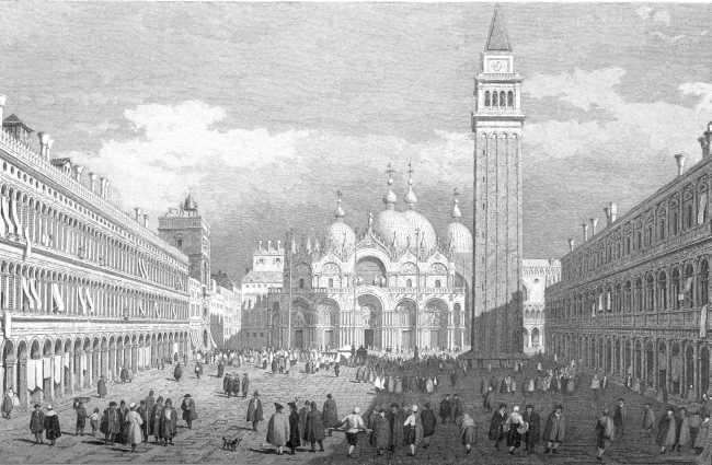 THE LIBRARY OF ST. MARK, ST. MARK'S PLACE, VENICE.