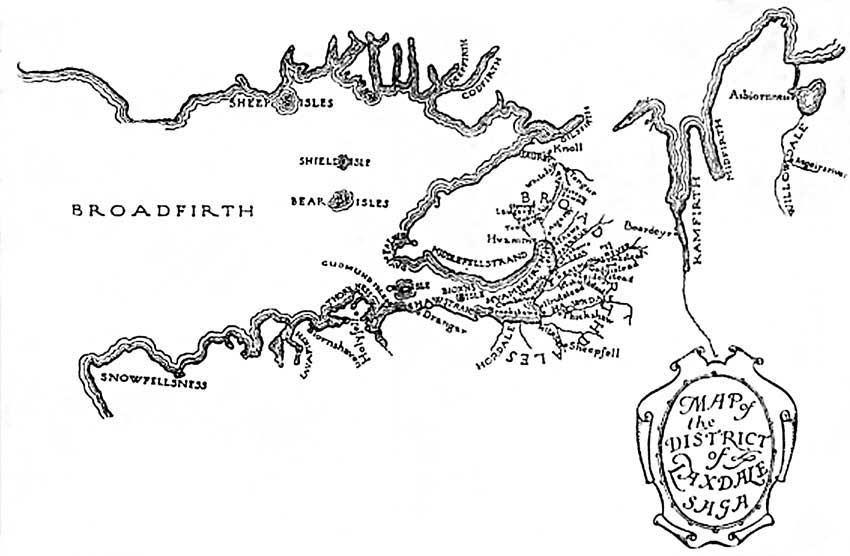 Map of the District of Laxdale Saga