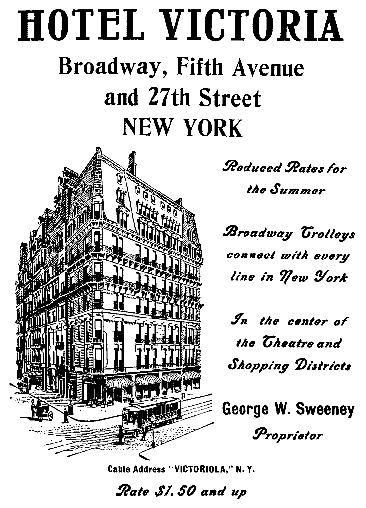 The project gutenberg ebook of the hudson by wallace bruce advert hotel victoria new york fandeluxe Image collections
